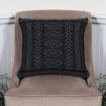 Plated Aran Cushion Cover