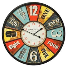 Found Numbers Wall Clock