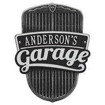 Personalized Car Grille Garage Plaque