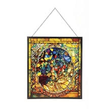 Tiffany Four Seasons Art Glass Panels