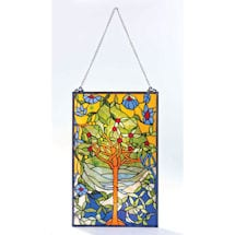 Blossoming Tree Stained Glass Window Panel