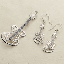 Bali Guitar Earrings