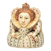 Historical British Caricature Boxes - Queen Elizabeth