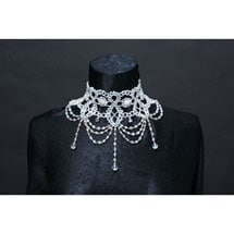 Victorian Beaded Bib Necklace