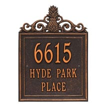 Personalized Pineapple Address Plaque
