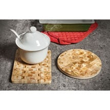 Aromatic Juniper Wood Trivet - Rectangle