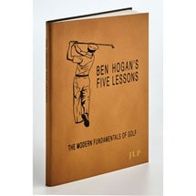 Leather-Bound Ben Hogan's Five Lessons of Golf Book - Personalized