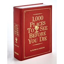 Personalized Leather-Bound 1,000 Places to See Before You Die Book With Initials