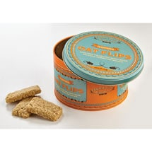 English Oat Flips Biscuits in a Tin