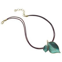 Sculptural Leaves Necklace