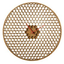 Spinning Honeycomb Wall Clock