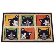 Curious Cats Doormat