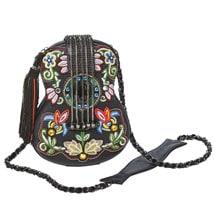 Mary Frances Hand-Beaded Folklore Handbag