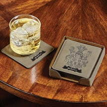 Personalized Coat-of-Arms Coasters