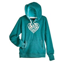 Celtic Heart Hooded Sweatshirt