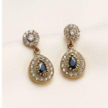 Turkish Ottoman Onyx Earrings