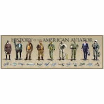 History of the American Aviator Print: Unframed