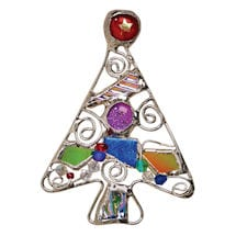 Art Glass Tree Pin