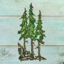 Three Pines Metal Wall Décor