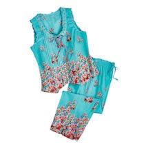 Aqua Roses Pajamas