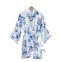 Blue Hydrangea Silk Robe