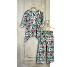Red and White Flower Pajamas