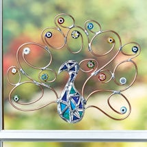 Peacock with Millefiori Wall Décor