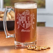 Personalized Coat of Arms Barware