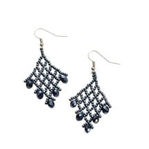 Beaded V-Earrings