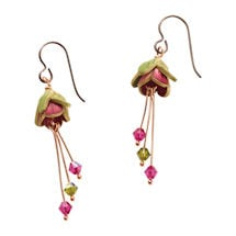 Pretty in Pink Clay Earrings