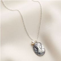 Silver Cameo Necklace