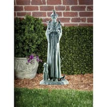 St. Francis with Cat Garden Sculpture