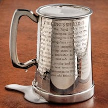 Taking the King's Shilling Glass-Bottom Tankard Without Initials