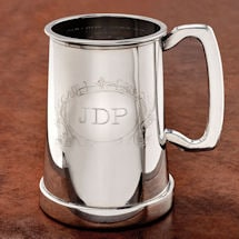 Taking the King's Shilling Glass-Bottom Tankard With Initials