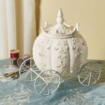 Cinderella's Carriage Stoneware Jar