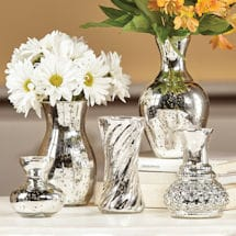 Mercury Glass Vase Set