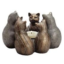 Circle of Cats Candleholder