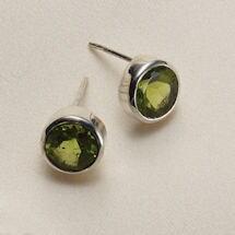 Peridot Fern Earrings