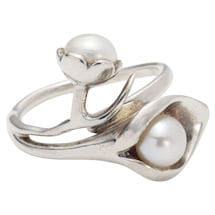 Pearl Calla Lily Jewelry: Ring