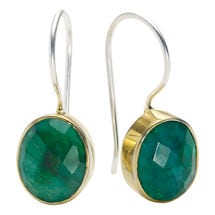 Rough-Cut Gemstone Earrings