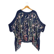 Women's Wildflowers Tunic - Embroidered Floral Top with Tank