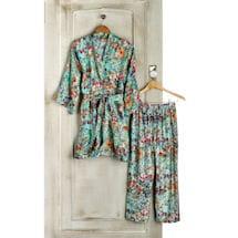 Rose Garden Silk Pajama Pants