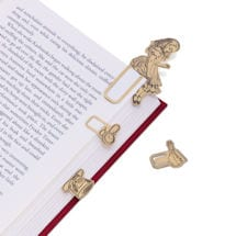 Alice in Wonderland Brass Page Markers Set
