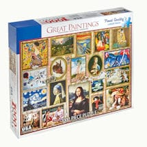Great Paintings Collage Jigsaw Puzzle - 1000 Pieces