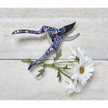Blue Floral Garden Tools: Pruners