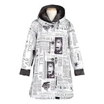 Newspaper Reversible Swing Jacket