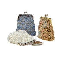Beaded Kiss Lock Bags
