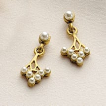 Art Nouveau Spray Earrings