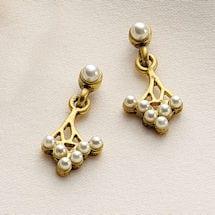 Art Nouveau Spray Earrings