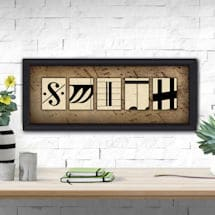 Personalized Music Print: Framed Canvas